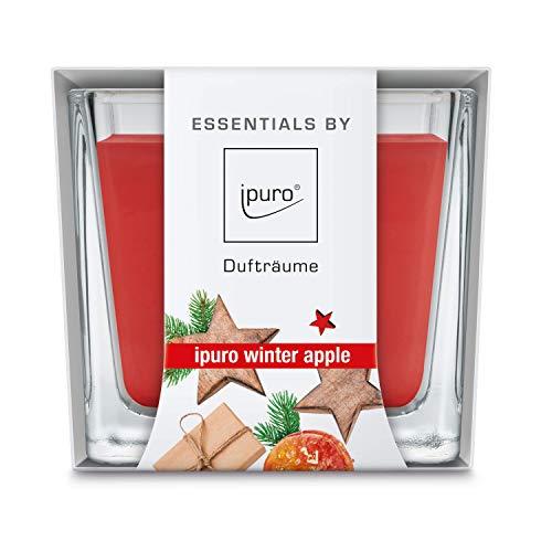 ipuro Essentials Duftkerze winter apple - Raumduft für eine wohlig-warme Atmosphäre - Kerze mit hochwertigen Inhaltsstoffen (125g) - Dekorative Wachskerze in Glasbehältnis- Perfekt als Gesc, IFC0213