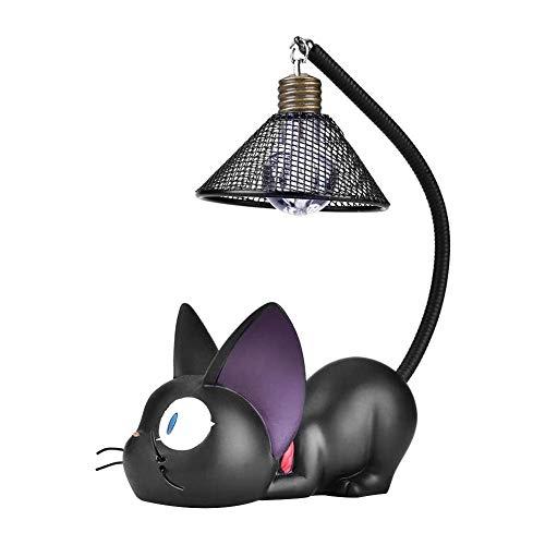 Schwarze Katze Nachtlichter Nachttischlampe Dekoration, Schwarzes Katzennachtlicht für Kinder, Resin Cartoon Led Lampe, kein Ladekabel Erforderlich, für Kinder Decoration für Schlafzimmer, Nachttisch