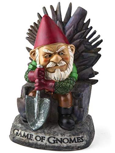 Big Mouth Inc. Gartenzwerg Game of Gnomes - Lustiger Gartenzwerg, handbemalt, wetterfest, Keramik, Rasenzwerg, tolles Geschenk, 24 cm hoch