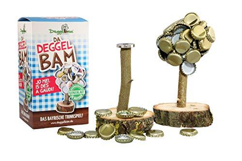 Deggelbam das Original 2.0 – Genialer Baum mit extra starkem Magnet für 50 Kronkorken als witziges Geschenk für Männer oder Partyraum-Ausstattung & Bardeko – Handgemacht in Bayern