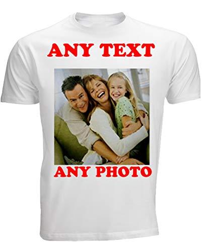 4sold Erstellen Sie Ihre eigenen personalisierte t-Shirt Uinisex Herren Kinder Beliebiges Foto Beliebiger Text, (Weiß, Unisex XL)