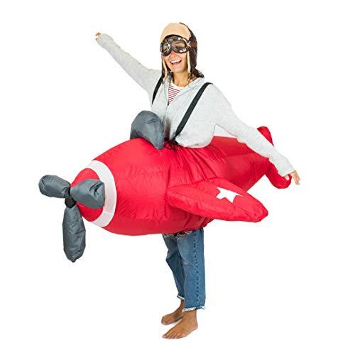 Bodysocks® Aufblasbares Flugzeug Kostüm für Erwachsene