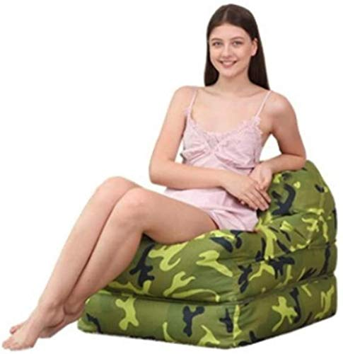 TINANG AE High Back Beanbag Camo Bean Bag Wohnzimmer Balkon Faules Sofa for Kinder Erwachsene Kinder Im Freien Gartenstuhl Tatami Sofa Boden Lounger (Color : Light Camouflage, Size : Medium)