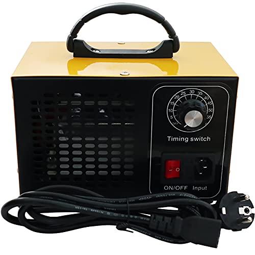 ATWFS Industrieller Ozongenerator-Luftreiniger, 48.000 mg/h 60.000 mg/h Ozon-Deodorant mit 60-Minuten-Timer, Reinigt mehr als 300㎡ (60000mg/H Gelb)