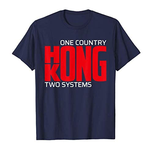 Dasongff Herren Shirts,'One Country Two Systems Hong Kong' Brief Drucken T-Shirt
