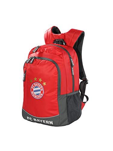FC Bayern München Rucksack rot, Schulrucksack für Kinder und Jugendliche