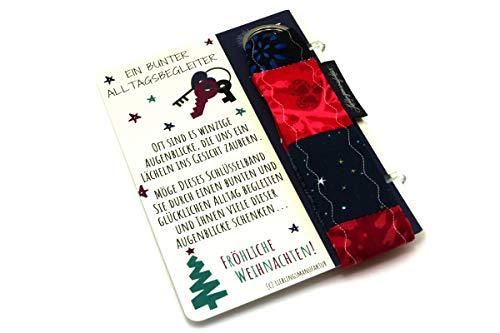 Lieblingsmanufaktur Farbenfrohe Schlüsselanhänger als Weihnachtsgeschenke für Mitarbeiter, Kunden, Geschäftspartner – individuelles Geschenk an Weihnachten für Frauen – Freude schenken im Advent