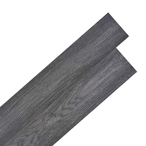 Tidyard Vinyl-PVC Laminat Dielen Selbstklebend, 5,02 m², Rutschfest, Wasserfest, Schwer Entflammbar, Schimmelbeständig, für Küche, Bad, Flur oder Wohnzimmer, 4 Dekors wählbar - Schwarz und Weiß