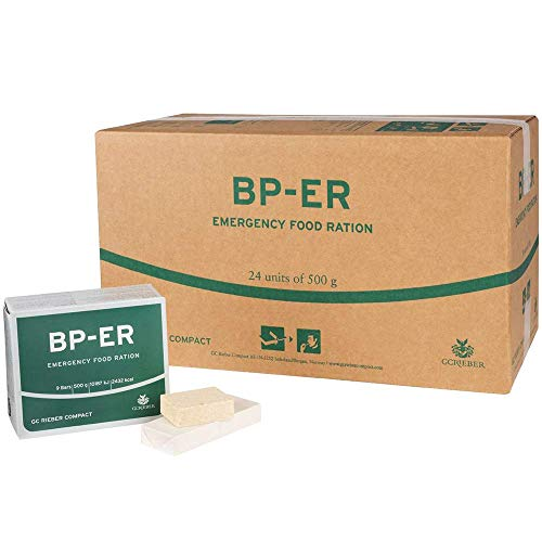 BP-ER Notration   Emergency Food Ration   Karton mit 24 x 500g   Langzeitnahrung   sofort verzehrfertig