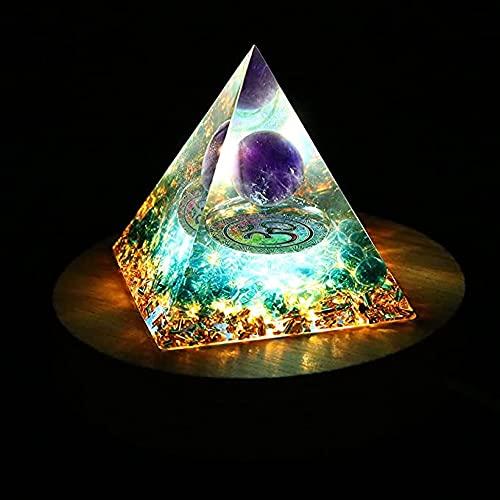 Orgone Pyramide Kristall Pyramide Reiki Pyramide Amethyst Pyramide Positive Energie Natürliche Chakra Meditation Kristalle Home Dekor