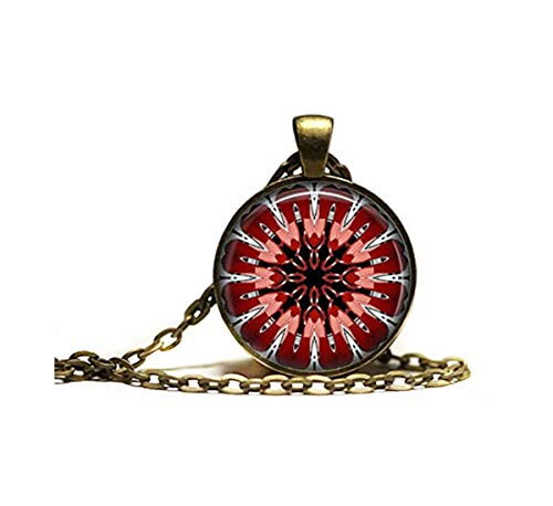 Bohème-Anhänger, cooles Kaleidoskop-Schmuck, einzigartiges esoterisches Amulett