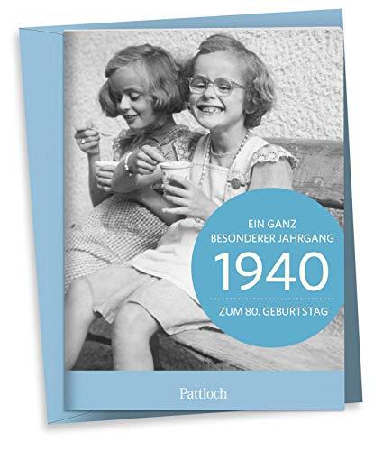 1940 - Ein ganz besonderer Jahrgang - Zum 80. Geburtstag: Jahrgangs-Heftchen mit Kuvert