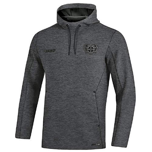 JAKO Bayer 04 Leverkusen Premium Hoody (L, anthrazit meliert)