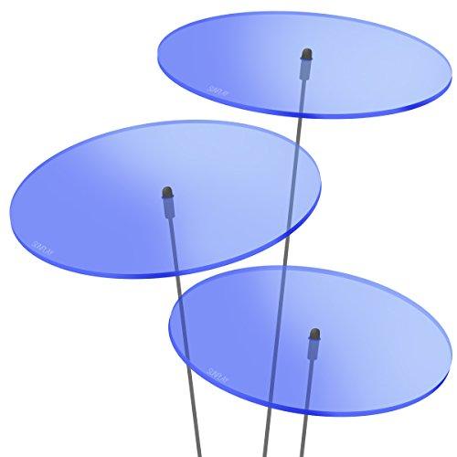 SUNPLAY 'Sonnenfänger-Scheiben in BLAU, 3 Stück je 20 cm Durchmesser im Set + 70 cm Schwingstäbe