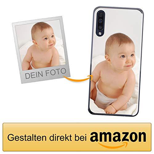 Coverpersonalizzate.it Handyhülle für Samsung Galaxy A50 mit Foto-, Bildern- oder Text selbst gestalten- Die Handyhülle ist aus weichem transparentem TPU-Silikon-Gel Material