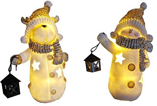 khevga Weihnachts-Deko: LED-Figuren Weihnachten Schneemann-Figur und Elch im Set