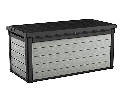 Koll Living Aufbewahrungsbox Maxi - hochwertige Gartenbox mit Gasdruckfedern - viel trockener Stauraum für Sitzauflagen oder Gartengeräte - 100% wasserdicht - mit Belüftungssystem (Maxi 570 Liter)