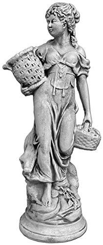 gartendekoparadies.de Massive Steinfigur Statue Frau Motiv Sommer antik aus Steinguss frostfest