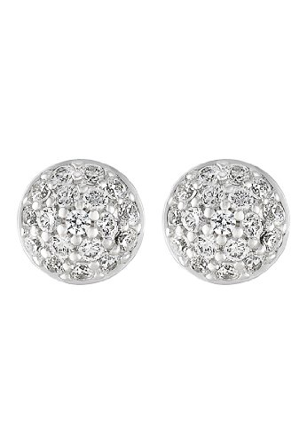 JETTE Silver Damen-Ohrstecker 925er Silber 36 Zirkonia One Size 86736276