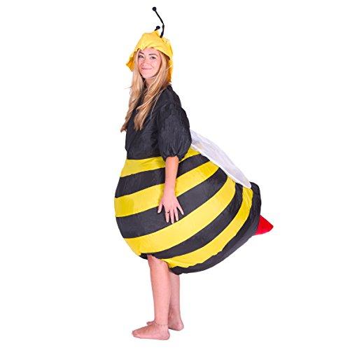 Bodysocks Aufblasbares Biene Kostüm für Erwachsene