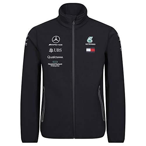 Official Formula 1 Merchandise | Männer | Offizielle Mercedes-AMG Petronas Motorsport 2019 F1 | Team Softshell Jacke | Schwarz | Polyester | Größe: XXL