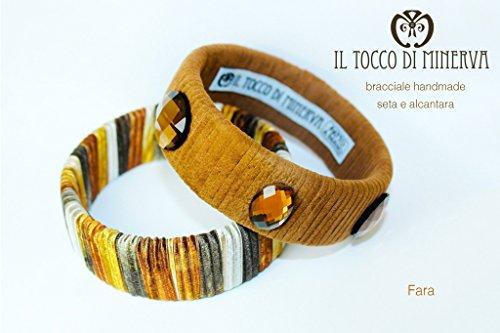 Armbänder brauner Seide und Alcantara Fara handgefertigt Made in Italy- handgefertigt - handgemacht - Mädchen Geschenk Mädchen - Geschenke für sie - Weihnachten