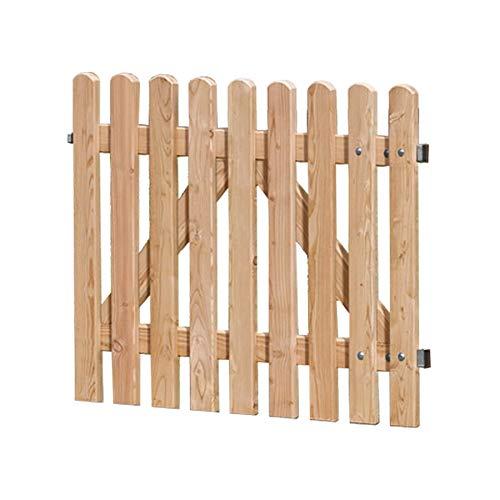 Weidenprofi Gartentor aus Lärchenholz, Staketentor passend zum Gartenzaun, Größe (BxH): 100 x 80 cm