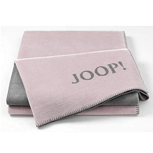 Joop! Plaid Uni-Doubleface | Rosé-Graphit - 150 x 200 cm