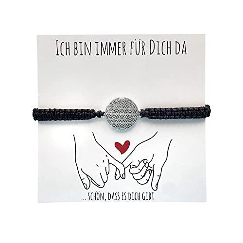 SUNDUKOFF Lebensblume Armband Damen - Lieblingsmensch - Kleine Spirituelle Geschenke für Beste Freundinnen - Esoterik - Glücksbringer - Flower of Life - Freundschaftarmband