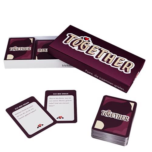 ZENAGAME Together - Spiel für Paar - 150 Karten für Spiele zu zweit Kommunkation verbessern und den Partner Besser kennenlernen Paar Spiel Fragen - Ideales Kartenspiel für Paare Pärchen Geschenke