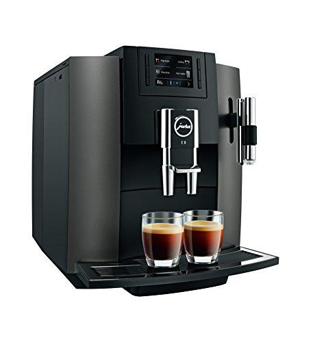 Jura E8freistehend vollautomatisch Maschine Espresso 1.9L 16tazas schwarz, Edelstahl–(freistehend, Maschine Espresso Kaffeemaschine, schwarz, Edelstahl, Tasse, Knöpfe, TFT)*