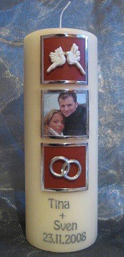 Hochzeitskerze Kerze zur Hochzeit Fotokerze Foto 16508