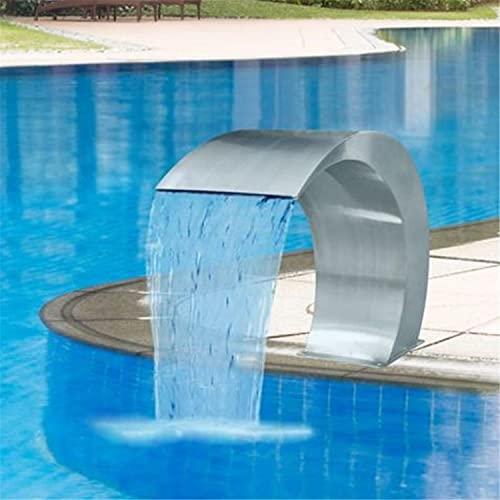 ZDYLM-Y Edelstahl-Pool-Brunnen, Wassersprinkler Oben im Boden-Swimmingpool-Dekor, Outdoor-Boden-Pool-Wasserfall-Brunnen,400x200mm