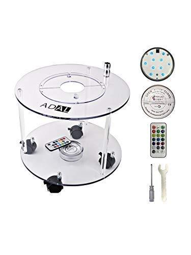 ADAL Premium Shisha Tisch   Komplett Set inkl. LED Untersetzer + Werkzeuge   Praktisch für Zuhause & Unterwegs   Acryl - Plexiglas - Transparent