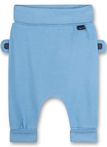 Sanetta Baby-Jungen Hose aus Strickstoff blau Freizeithose, Blue Sky, 68