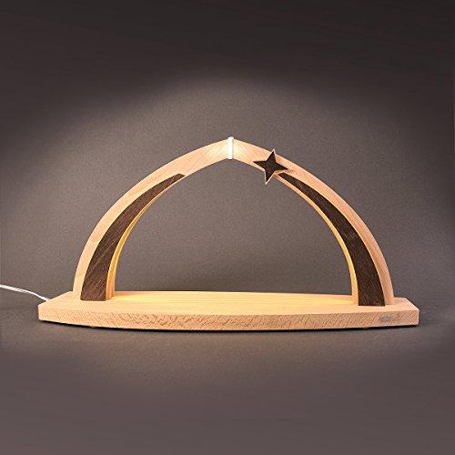 Tietze 'modern Wood' Schwibbogen LED, klein, leer