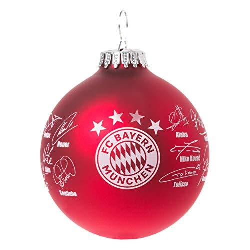 FC Bayern München Christbaumkugel 8cm Signature