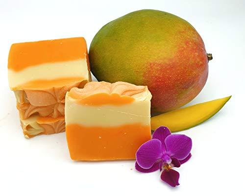 Mango Kokos Seife, Duschseife, vegan, ohne Palmöl, handgemacht Naturseife von kleine Auszeit Manufaktur