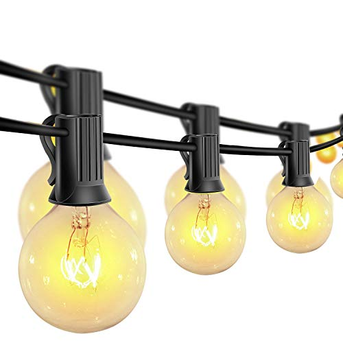 10M Lichterkette Außen Glühbirnen,30+3 Birnen G40 Vintage Edison Lampen, Indoor/Outdoor Lichterketten für Garten Balkon Party, Warmweiß [Energieklasse A++]