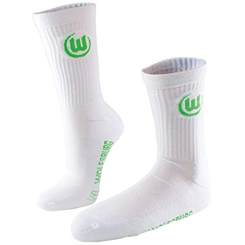 VfL Wolfsburg Sportsocken Socken Socks 2er Pack (39-42, weiß)