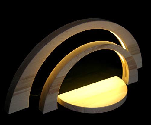 LED Doppel - Schwibbogen modern unbestückt Erzgebirge