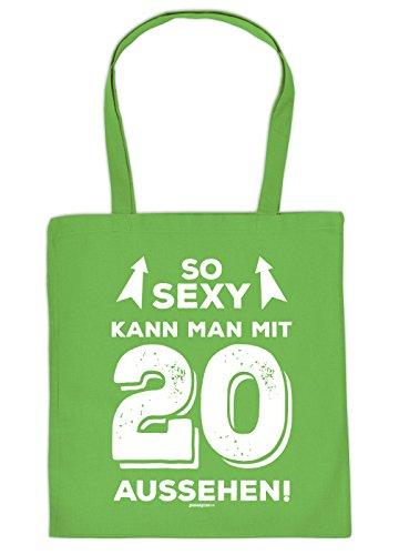 zum 20. Geburtstag Geschenk Stofftasche So sexy kann man mit 20 aussehen! Baumwolltasche Geschenkidee zum 20 Geburtstag 20 Jahre Birthday