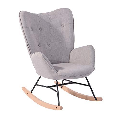 MEUBLE COSY Schaukelstuhl Relaxstuhl Schaukelsessel Sessel Stuhl Wohnzimmersessel Relax Lounge mit gepolsterter Sitzfläche