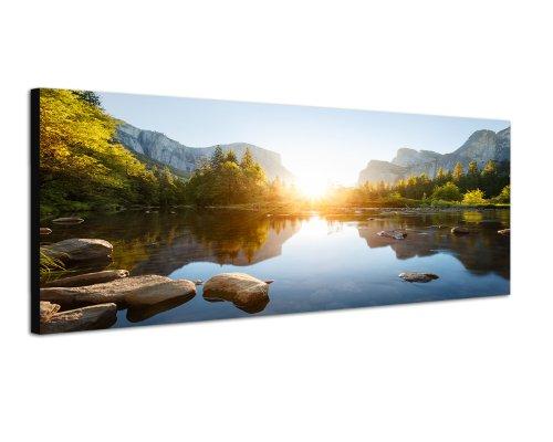 150x50cm Bild auf Leinwand und Keilrahmen fertig zum aufhängen moderne Wandbilder Bilder Bild Kunst Kunstdruck Deko für Wohnzimmer, Schlafzimmer, Büro u.v.m.