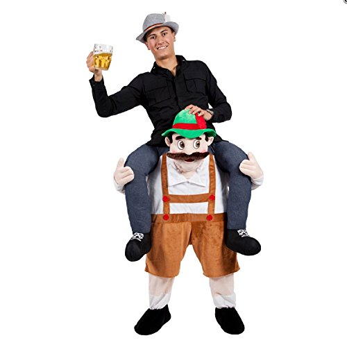 Hot 7Choices Bayerische Bier Guy Ride On Maskottchen Piggy Back Carry Me Oktoberfest Party Kostüm Novelties Leprechaun Kostüm, Beerman
