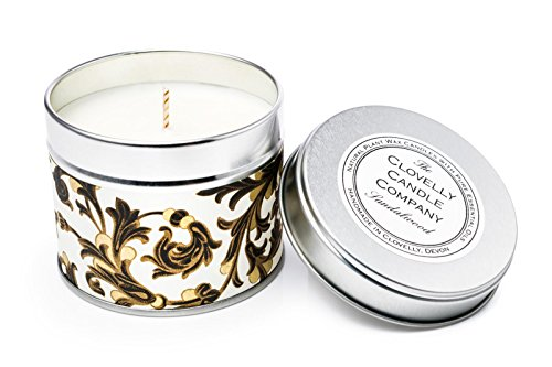 Clovelly Soap Co. Handgemachte natürliche Duftkerze Sandelholz Aromatherapie Sojawachs Vegane Dosenkerze