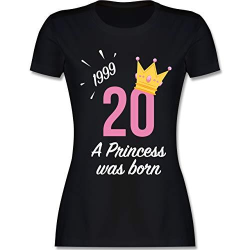 Geburtstag - 20 Geburtstag Mädchen Princess 1999 - S - Schwarz - L191 - Damen Tshirt und Frauen T-Shirt