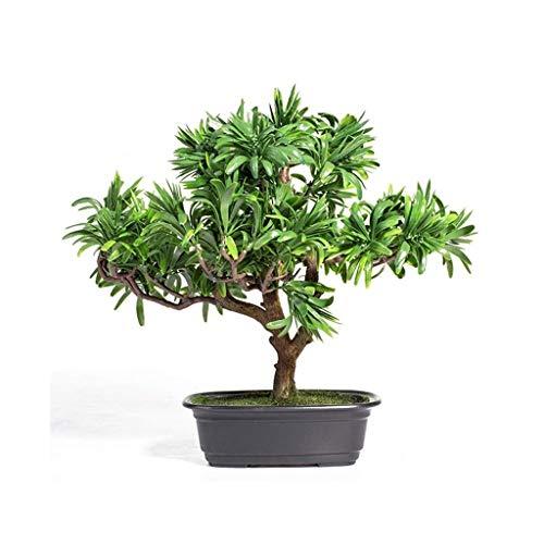 Zyj stores Künstliche Podocarpus-Baum Bonsai Bäume Gefälschte Topfpflanzen Indoor Evergreen Heim Tabelle Feng Shui Home Hotel Gartendeko