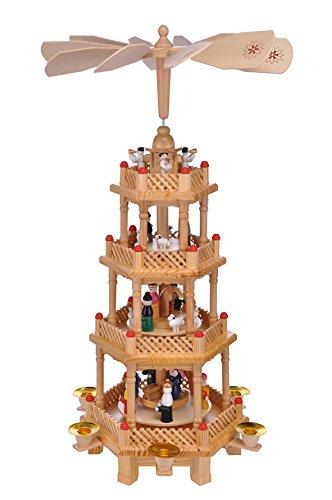 große Weihnachtspyramide Pyramide Weihnachten 4 stöckig,ca.52 cm