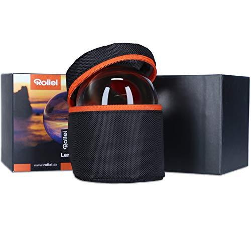 Rollei Lensball 90mm I Glaskugel I Kristallkugel I Foto-Kugel mit Aufbewahrungstasche & Mikrofaser Reinigungstuch für Glaskugel-Fotografie